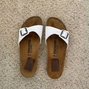 Birkenstock Madrid White Single Strap Sandals 10